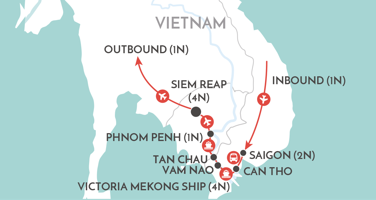 A Mekong Experience map