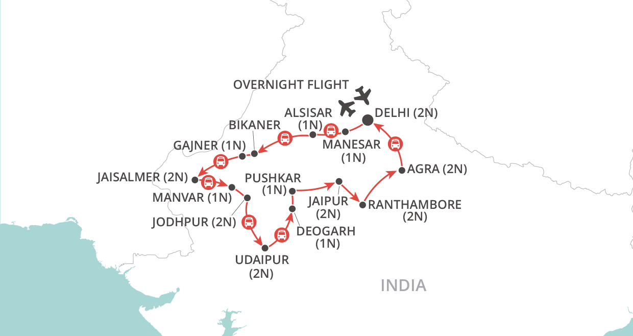 Rajasthan Panorama map